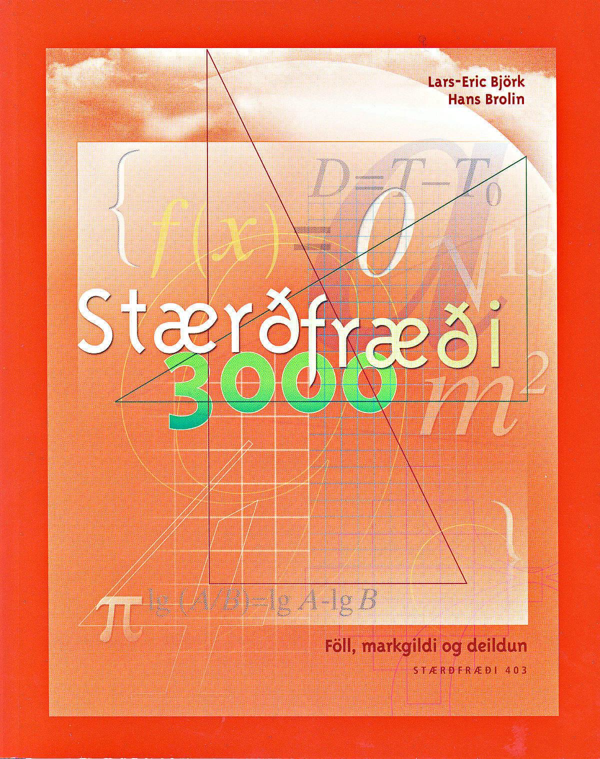 Staerdfraedi 3000 - 403 Föll, markgildi og deildun