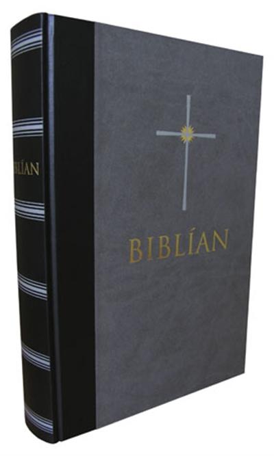 Biblía – grá/svört skinn