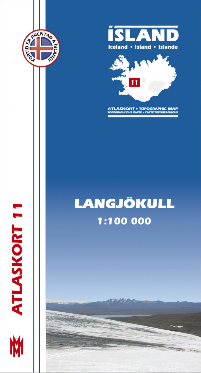 Atlaskort 11 - Langjökull