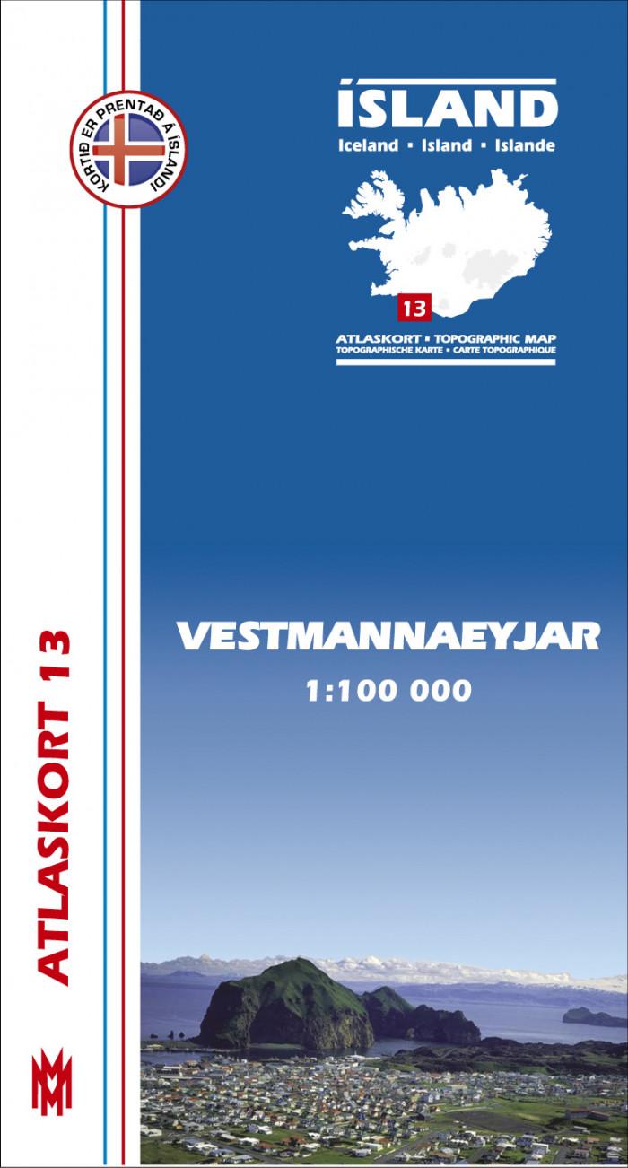 Atlaskort 13 - Vestmannaeyjar