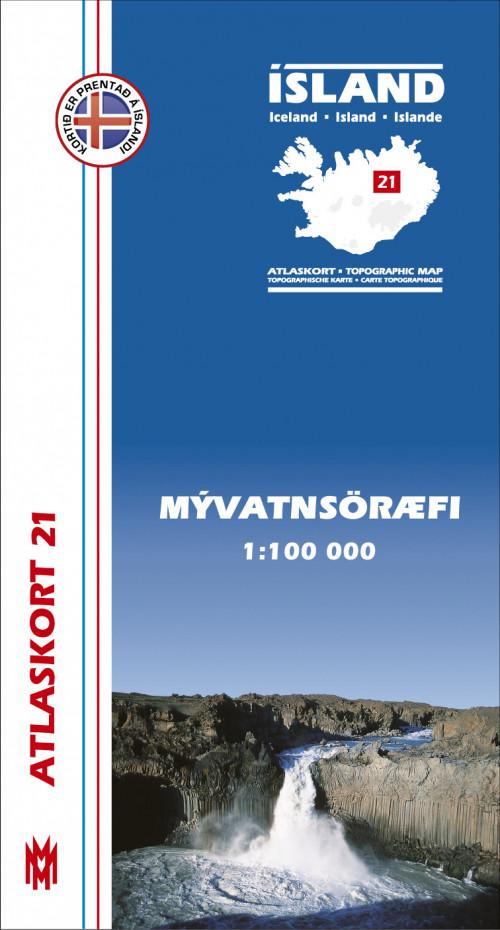 Atlaskort 21 - Mývatnsöræfi