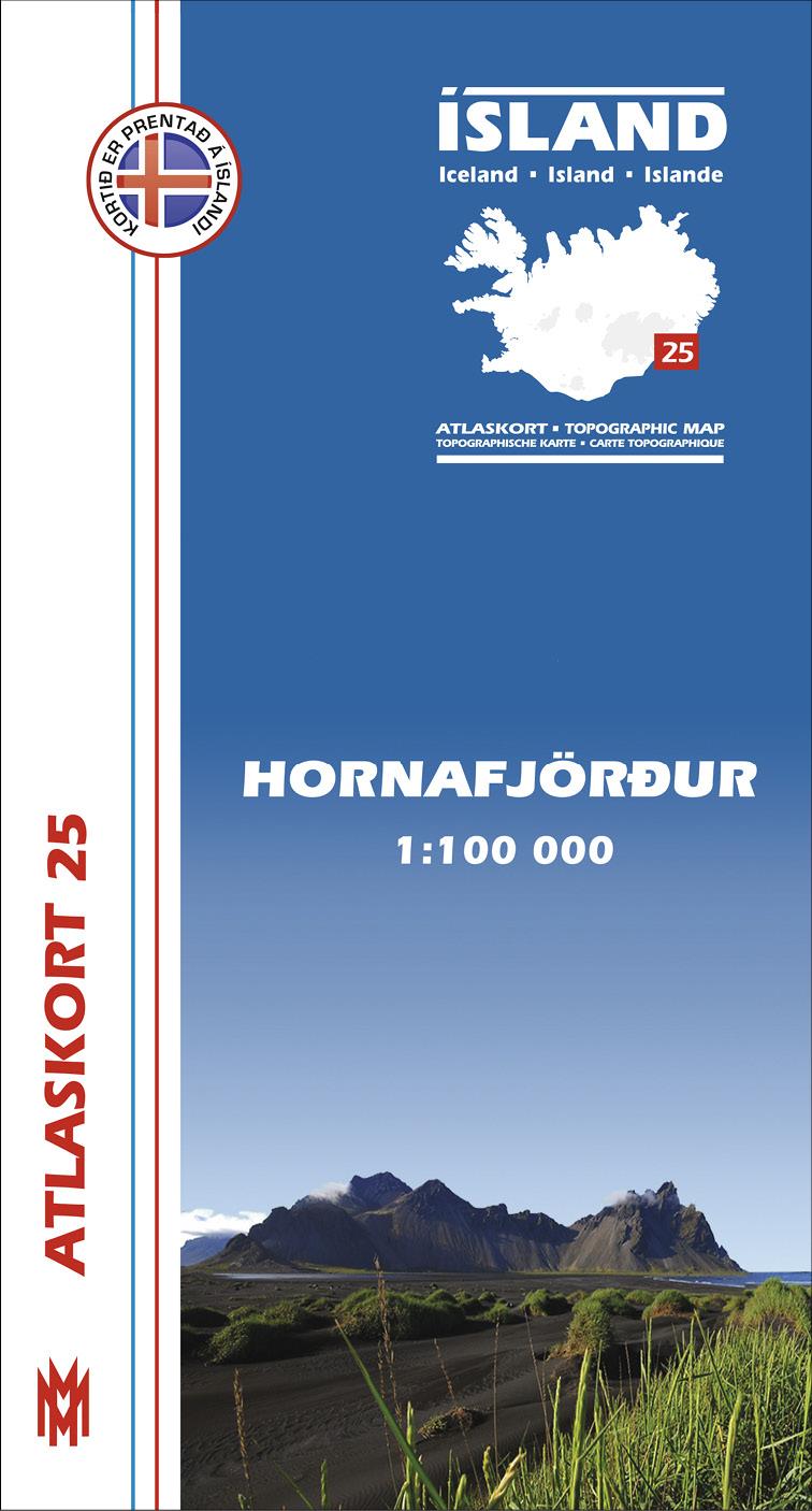 Atlaskort 25 - Hornafjörður