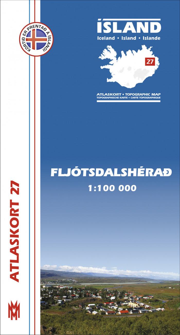 Atlaskort 27 - Fljótsdalshérað