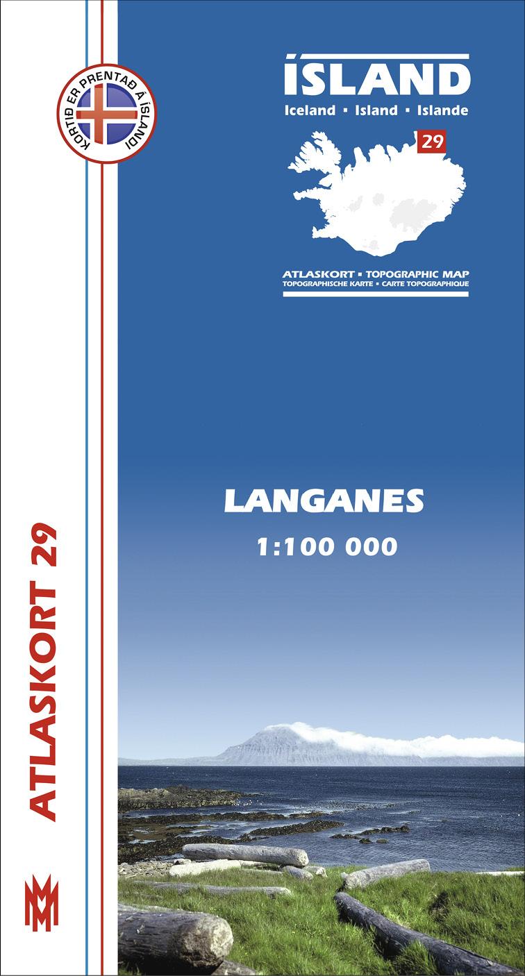 Atlaskort 29 - Langanes