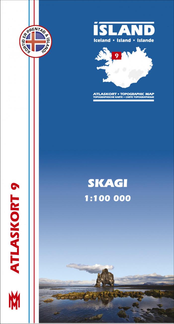 Atlaskort 9 - Skagi