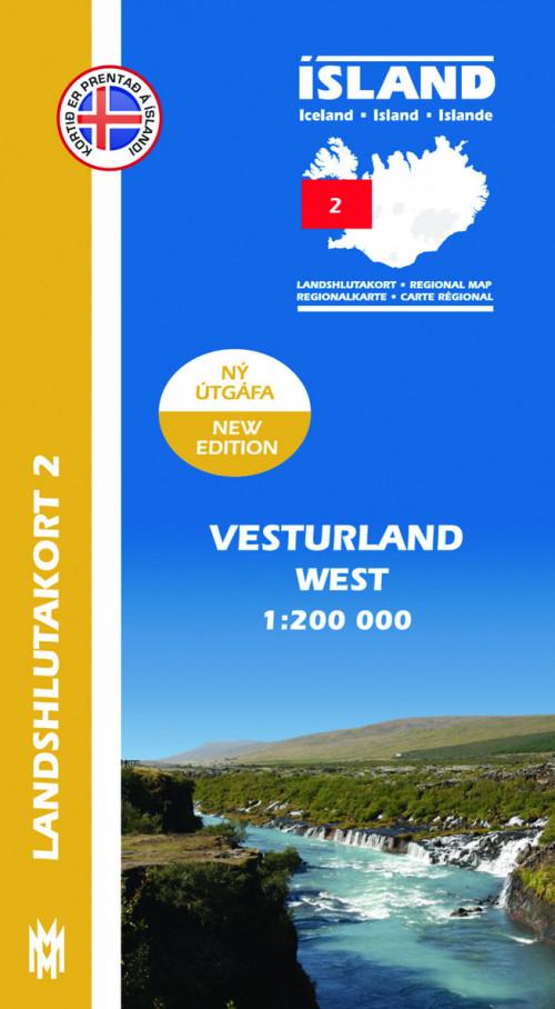 Landshlutakort 2 - Vesturland