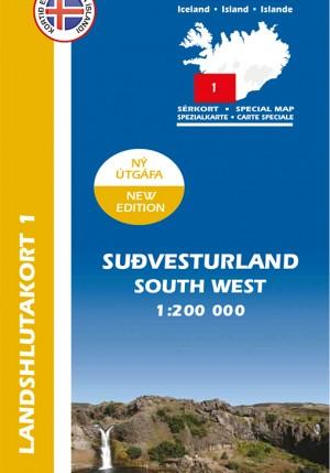 Landshlutakort 1 - Suðvesturland