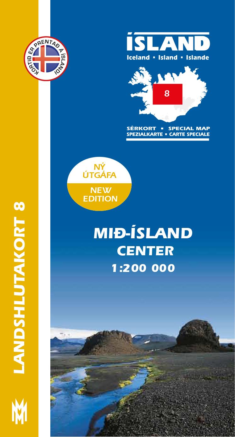 Landshlutakort 8 – Mið-Ísland 1:200 000