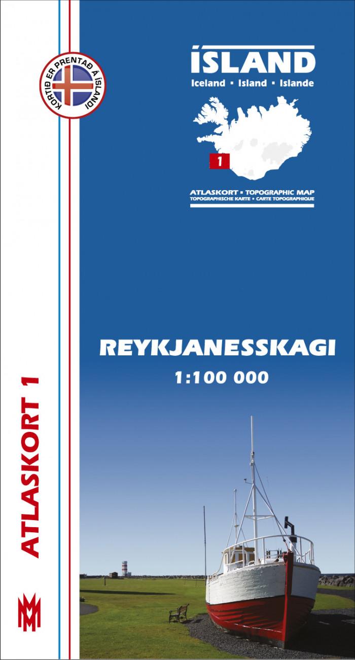Atlaskort 1 - Reykjanesskagi