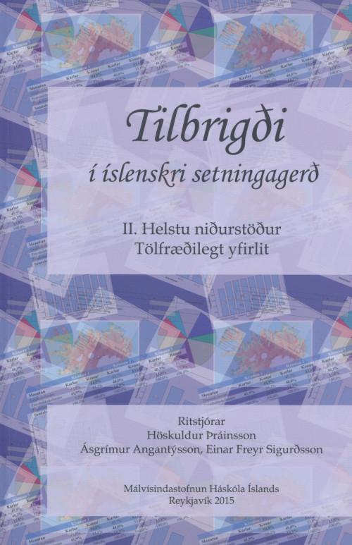 Tilbrigði í íslenskri setningargerð II