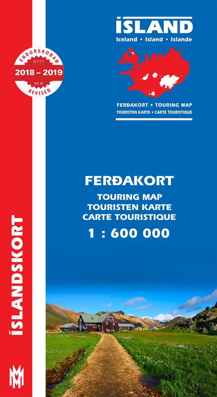 Ferðakort 1:600 000 / Touring Map 2018