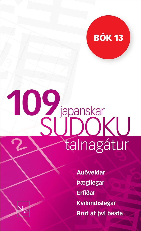 109 Japanskar Sudoku bók 13