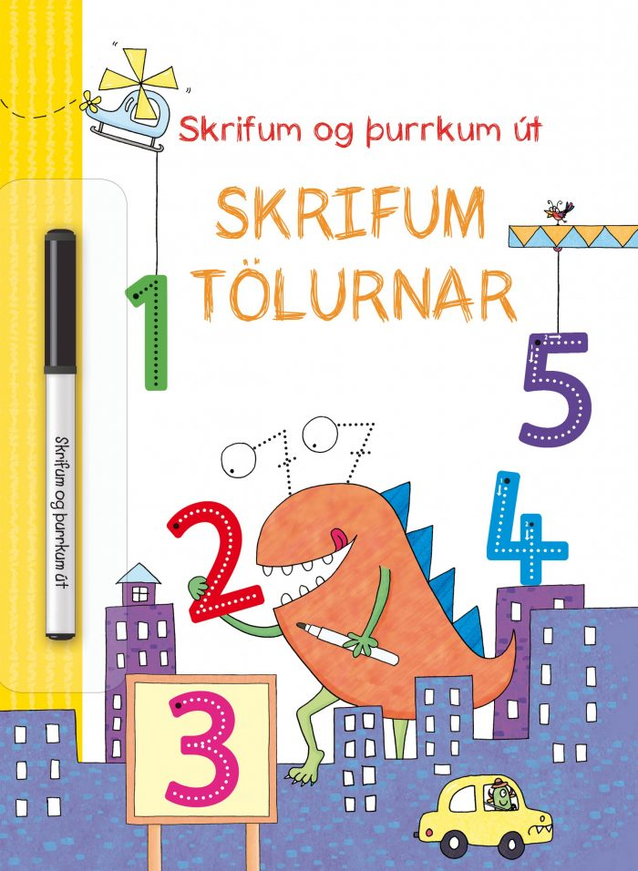 Skrifum tölurnar - skrifum og þurrkum út