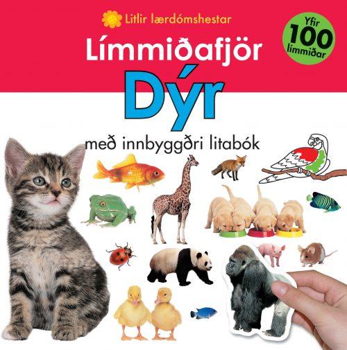 Límmiðafjör: Dýr - með innbyggðri litabók