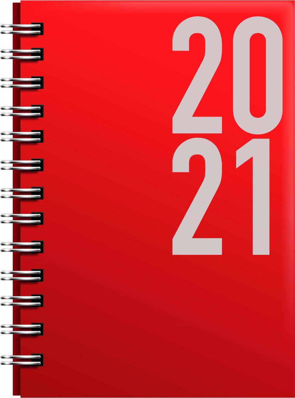 Munum dagbók 2021 - rauð gormabók