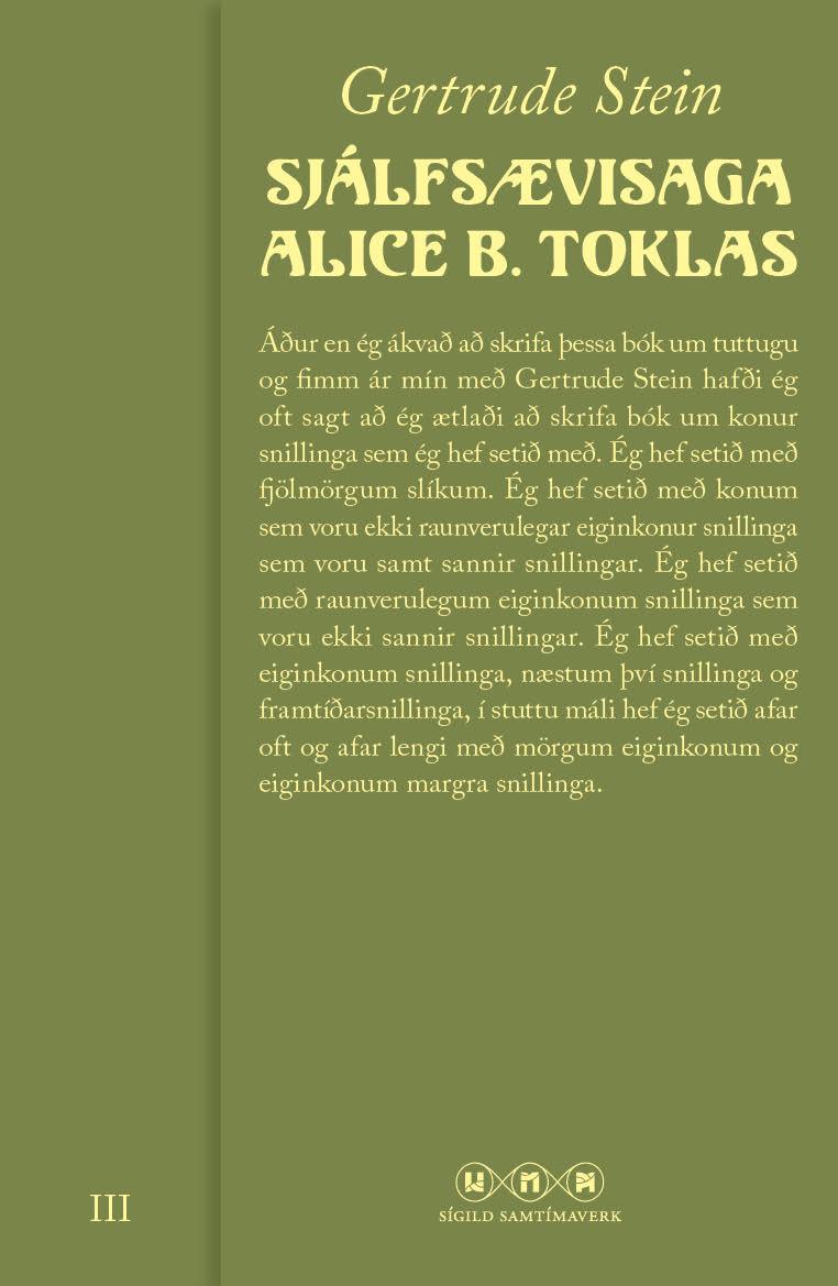 Sjálfsævisaga Alice B. Toklas